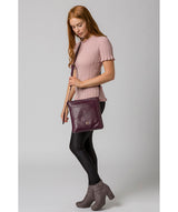 'Plumpton' Blackberry Leather Cross Body Bag image 2