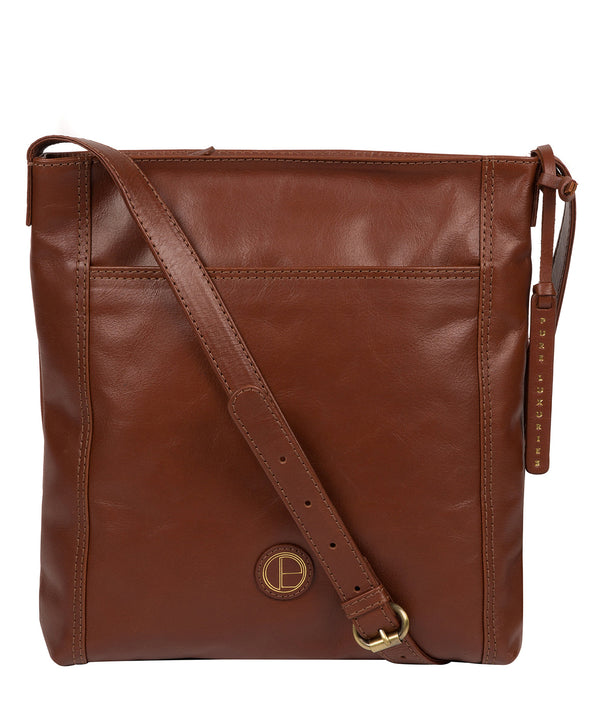 'Plumpton' Vintage Cognac Leather Cross Body Bag Pure Luxuries London
