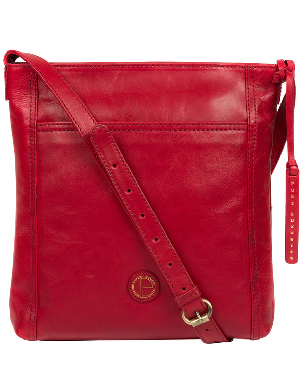 'Plumpton' Vintage Red Leather Cross Body Bag image 1