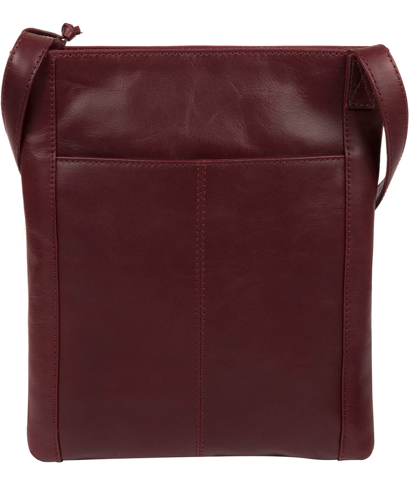 'Knook' Burgundy Leather Cross Body Bag image 3