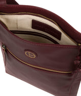 'Knook' Burgundy Leather Cross Body Bag image 4