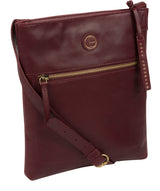 'Knook' Burgundy Leather Cross Body Bag image 5