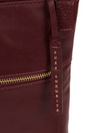 'Knook' Burgundy Leather Cross Body Bag image 6