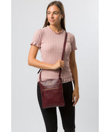 'Knook' Burgundy Leather Cross Body Bag image 7
