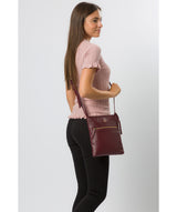 'Knook' Burgundy Leather Cross Body Bag image 2