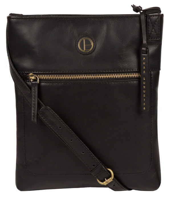 'Knook' Vintage Black Leather Cross Body Bag image 1