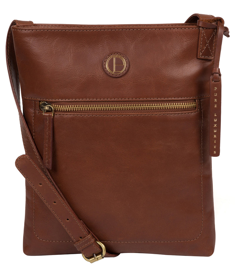 'Knook' Vintage Cognac Leather Cross Body Bag image 1