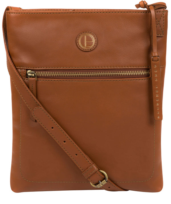 'Knook' Vintage Dark Tan Leather Cross Body Bag Pure Luxuries London