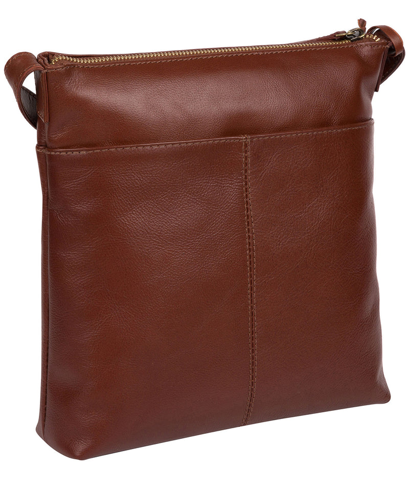 'Lancaster' Vintage Cognac Leather Cross Body Bag image 3