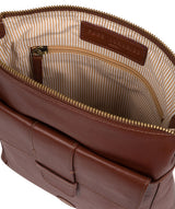 'Lancaster' Vintage Cognac Leather Cross Body Bag image 4