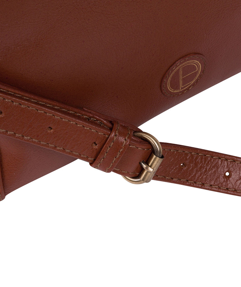 'Lancaster' Vintage Cognac Leather Cross Body Bag image 5