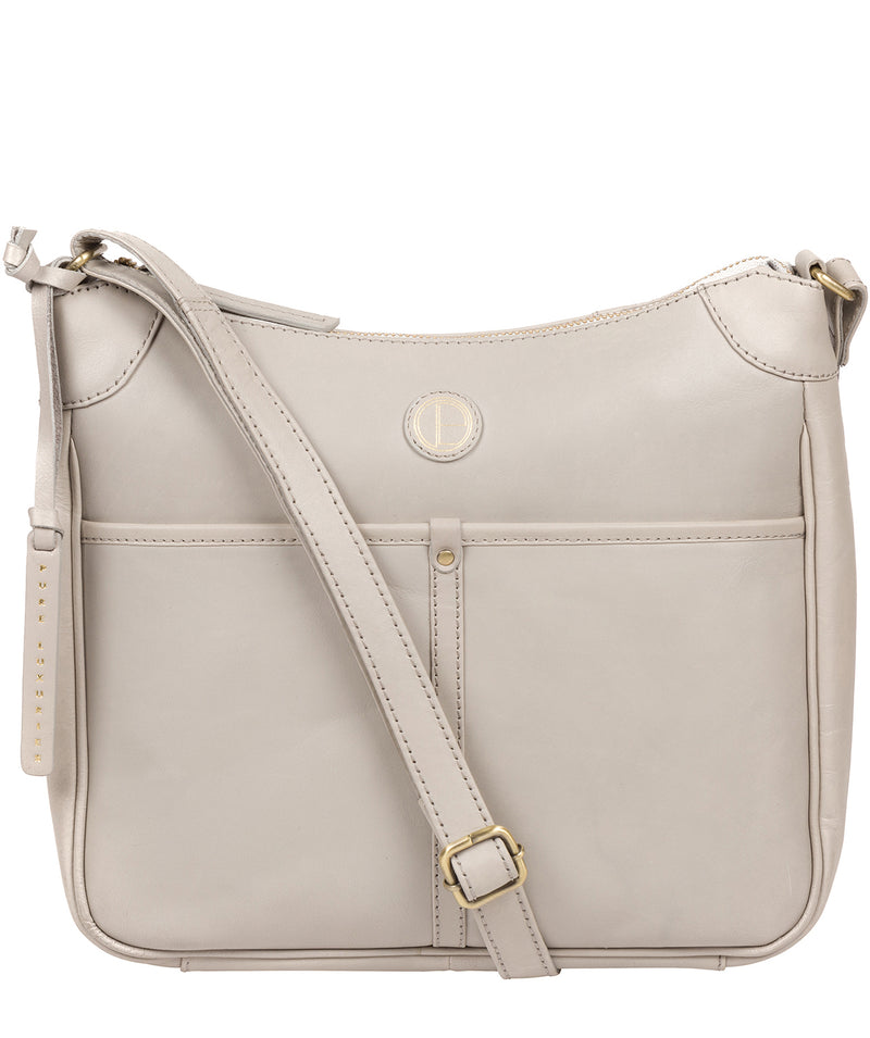 'Clovely' Dove Grey Leather Cross Body Bag image 1