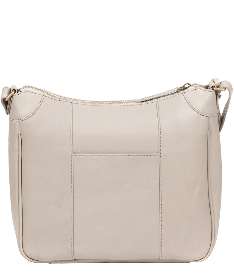 'Clovely' Dove Grey Leather Cross Body Bag image 3