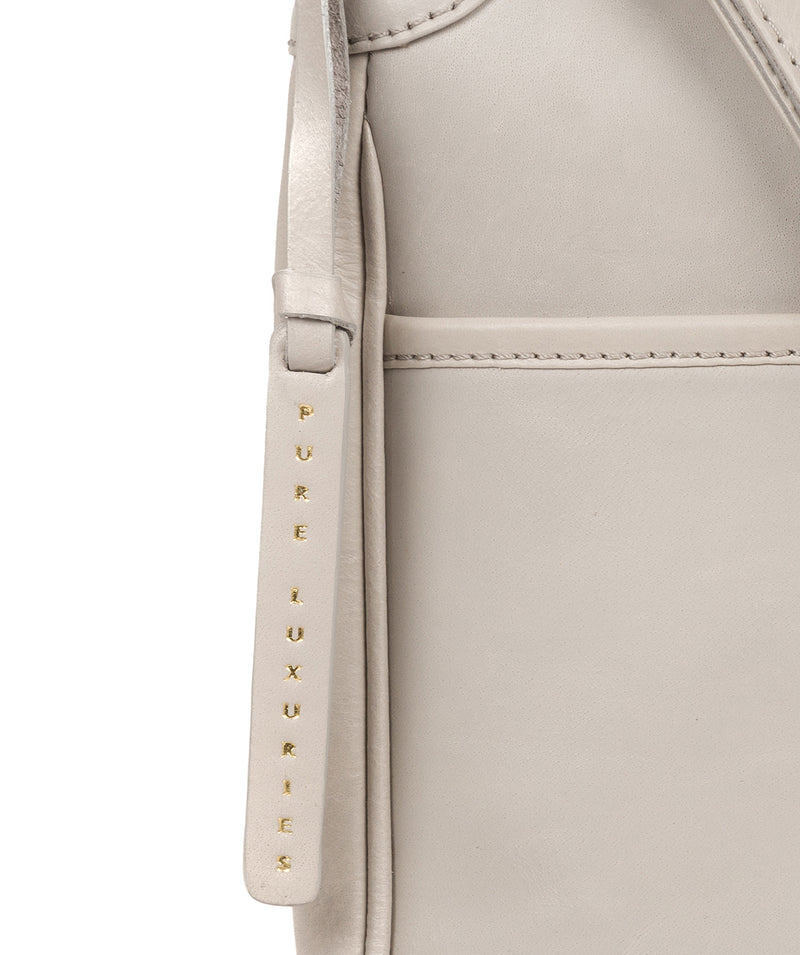 'Clovely' Dove Grey Leather Cross Body Bag image 6
