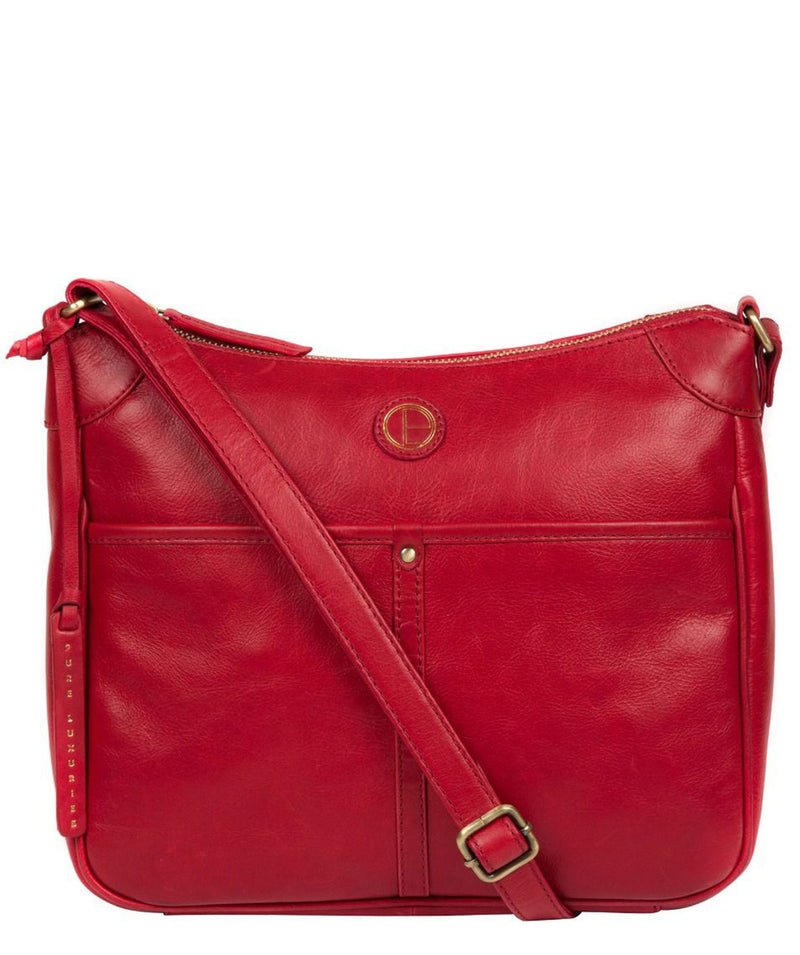 'Clovely' Vintage Red Leather Cross Body Bag