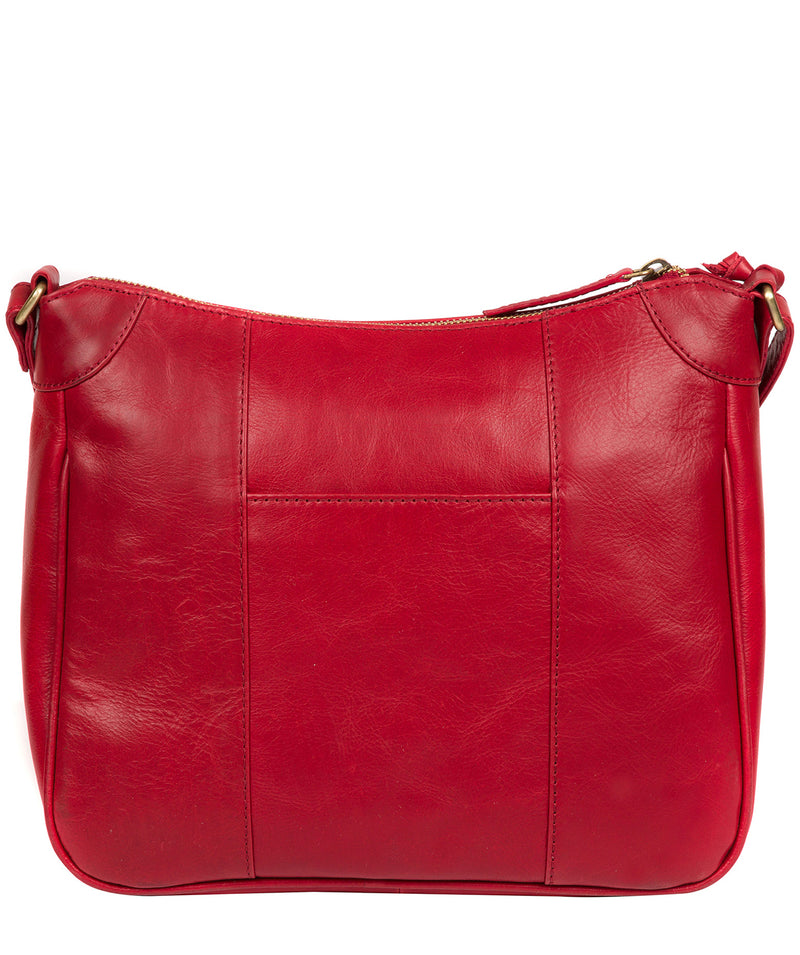'Clovely' Vintage Red Leather Cross Body Bag image 3