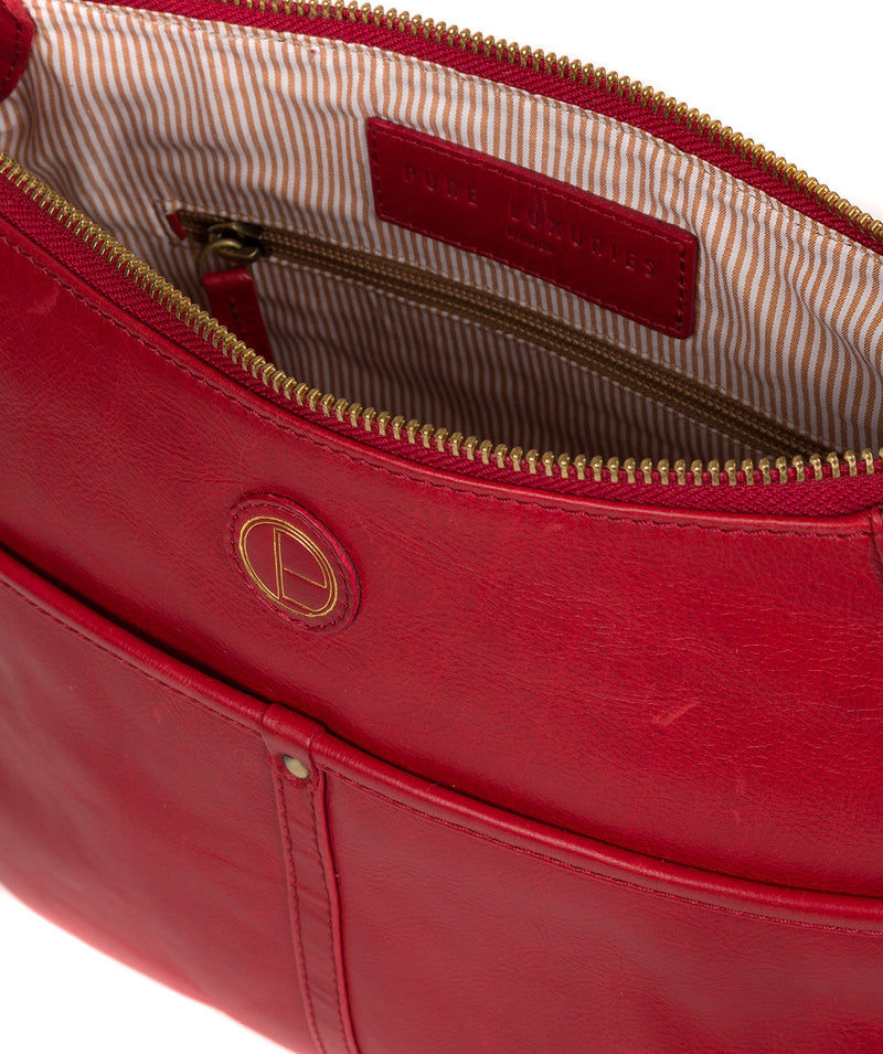 'Clovely' Vintage Red Leather Cross Body Bag image 4