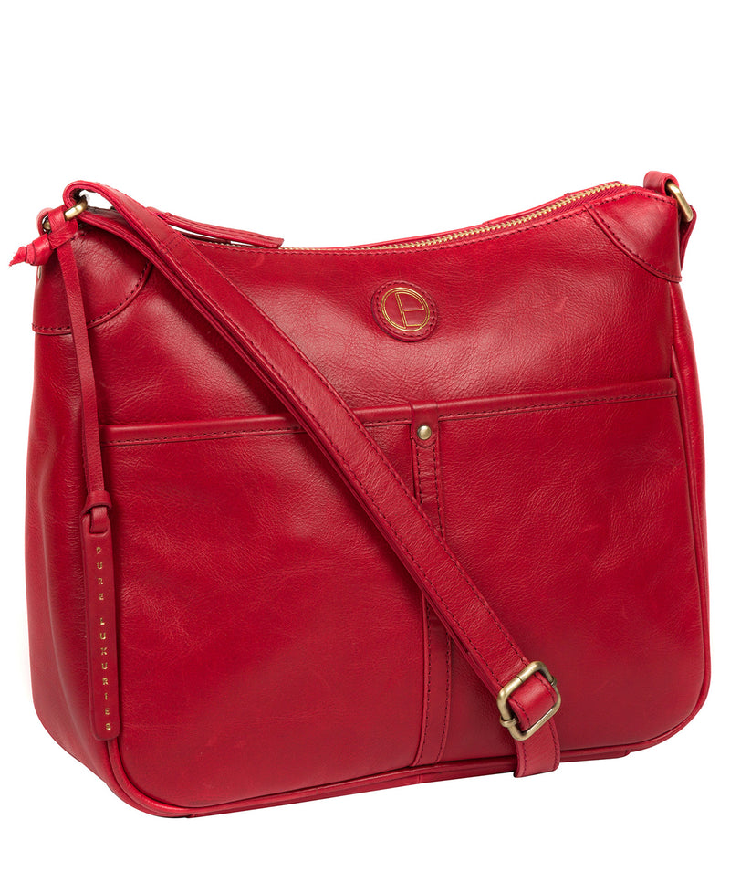 'Clovely' Vintage Red Leather Cross Body Bag image 5