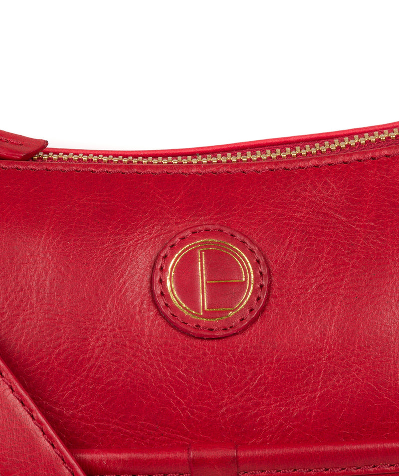 'Clovely' Vintage Red Leather Cross Body Bag image 6