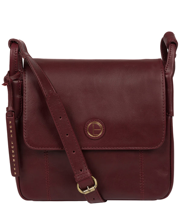 'Houghton' Burgundy Leather Cross Body Bag image 1