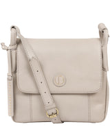 'Houghton' Dove Grey Leather Cross Body Bag image 1