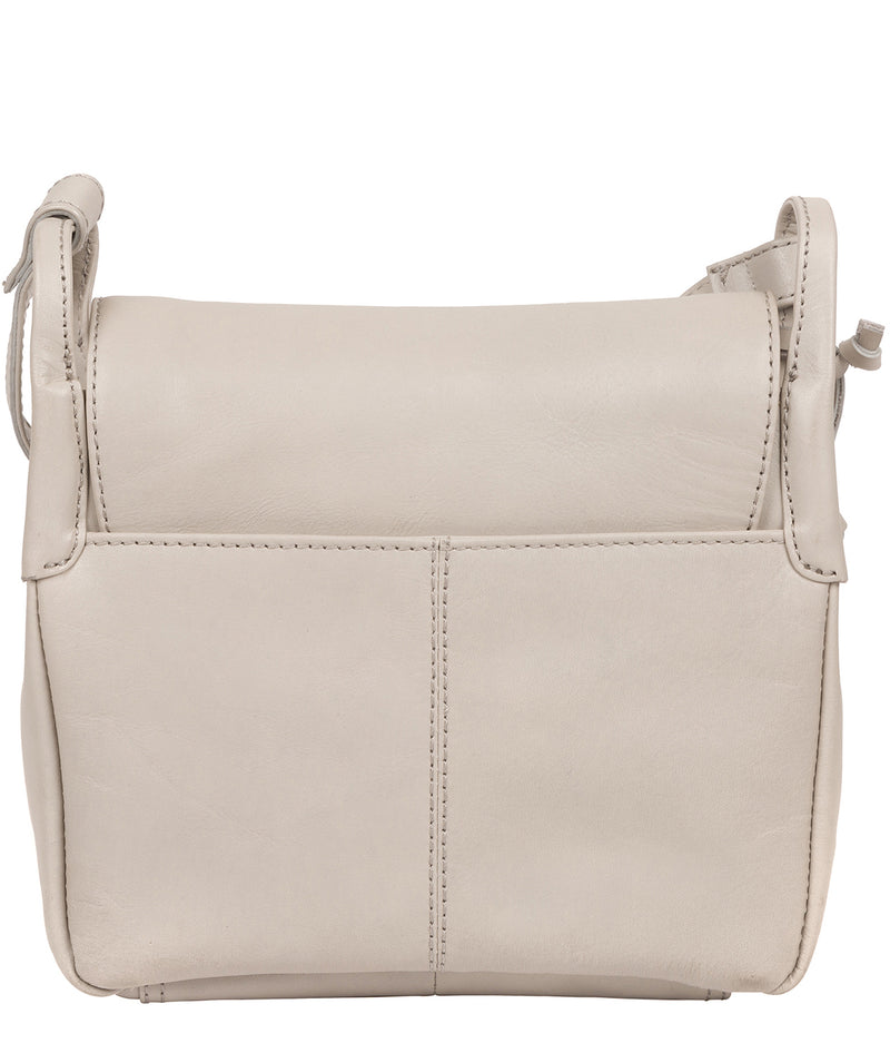 'Houghton' Dove Grey Leather Cross Body Bag image 3