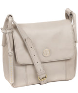 'Houghton' Dove Grey Leather Cross Body Bag image 5