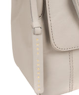 'Houghton' Dove Grey Leather Cross Body Bag image 6