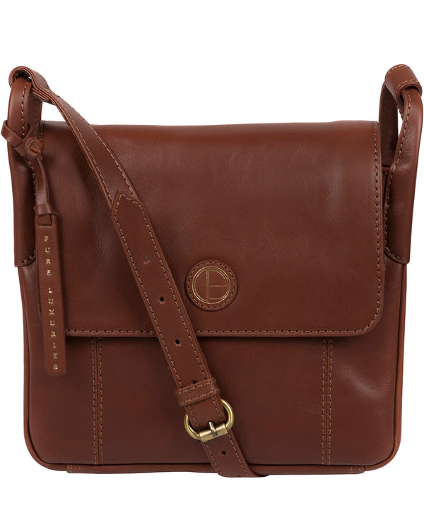'Houghton' Vintage Cognac Leather Cross Body Bag image 1