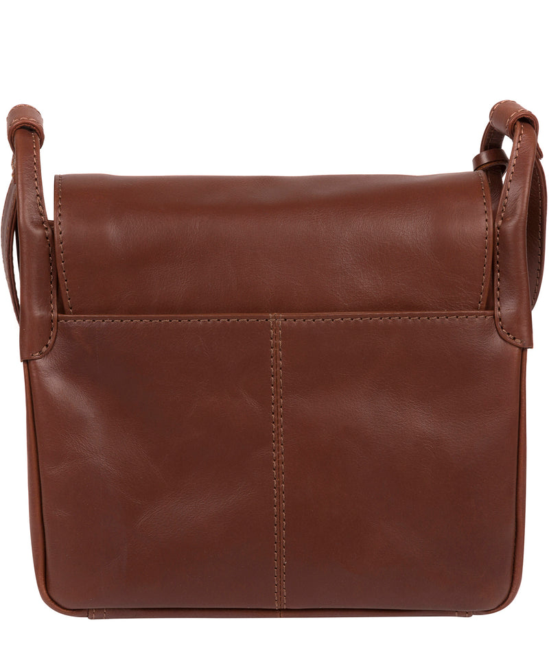'Houghton' Vintage Cognac Leather Cross Body Bag image 3