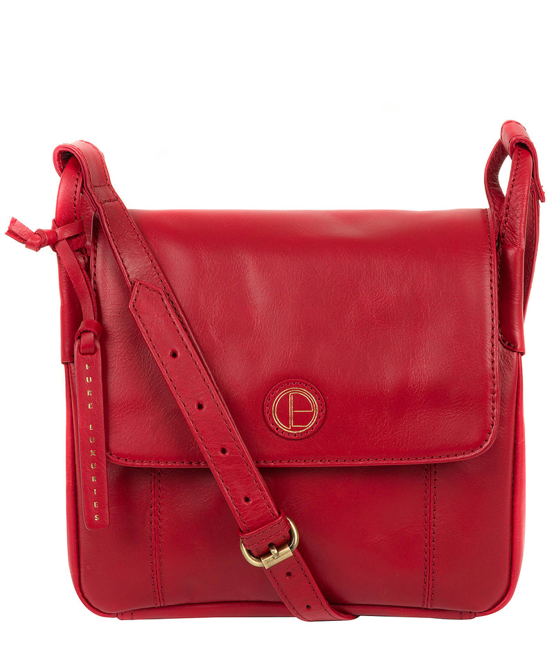 'Houghton' Vintage Red Leather Cross Body Bag