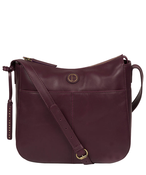'Farlow' Blackberry Leather Shoulder Bag image 1