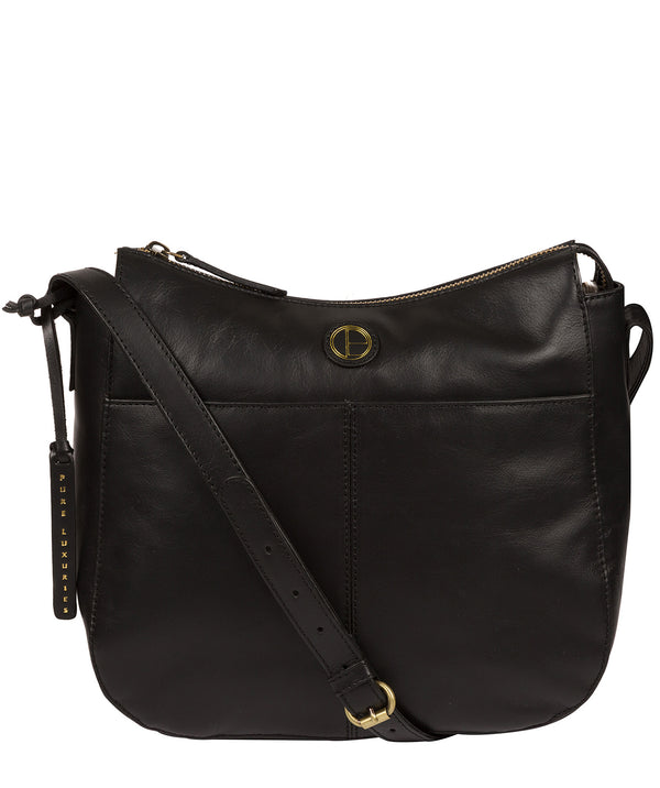 'Farlow' Vintage Black Leather Shoulder Bag Pure Luxuries London