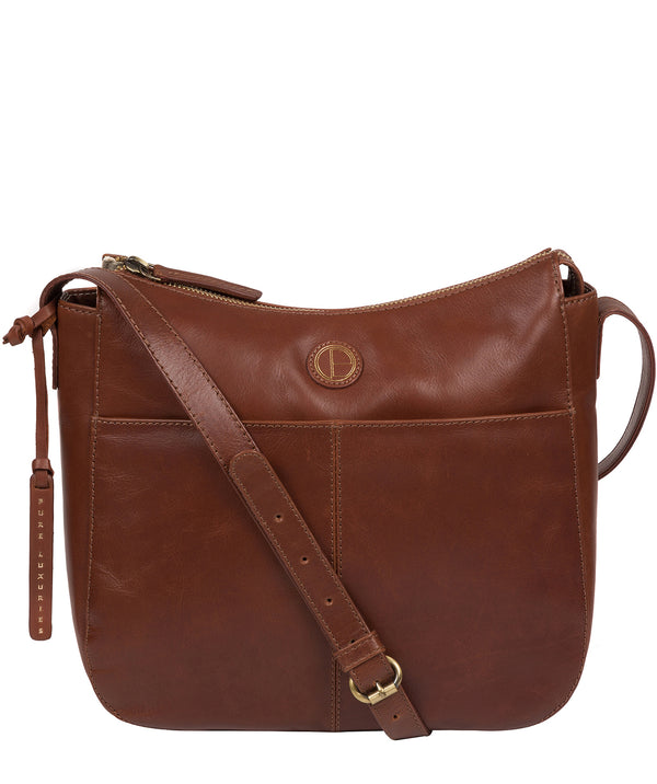 'Farlow' Vintage Cognac Leather Shoulder Bag Pure Luxuries London