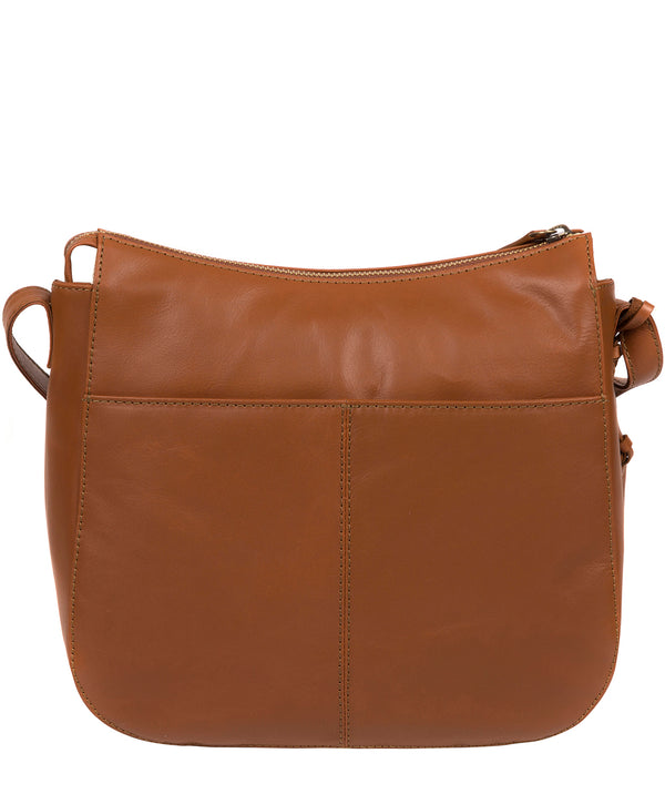 'Farlow' Vintage Dark Tan Leather Shoulder Bag image 3