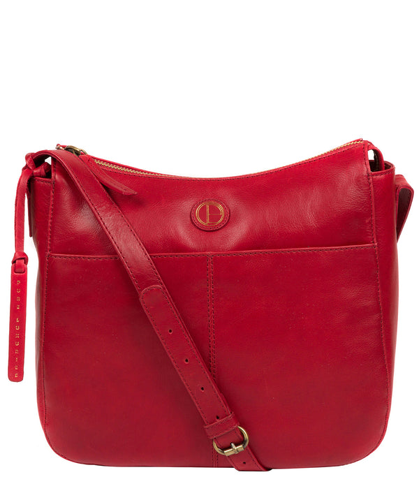 'Farlow' Vintage Red Leather Shoulder Bag image 1