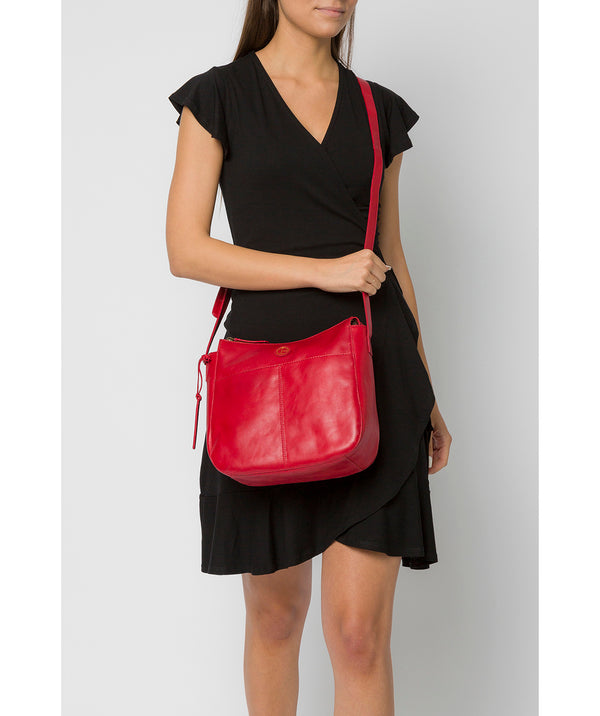 'Farlow' Vintage Red Leather Shoulder Bag image 2