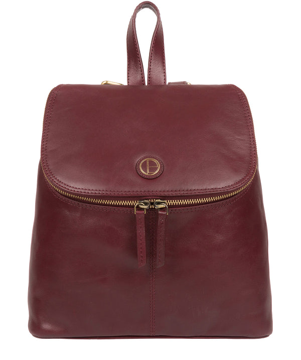 'Marbury' Burgundy Leather Backpack image 1