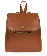 'Marbury' Vintage Dark Tan Leather Backpack image 1