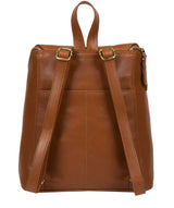 'Marbury' Vintage Dark Tan Leather Backpack image 3