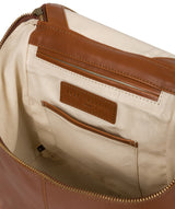 'Marbury' Vintage Dark Tan Leather Backpack image 4