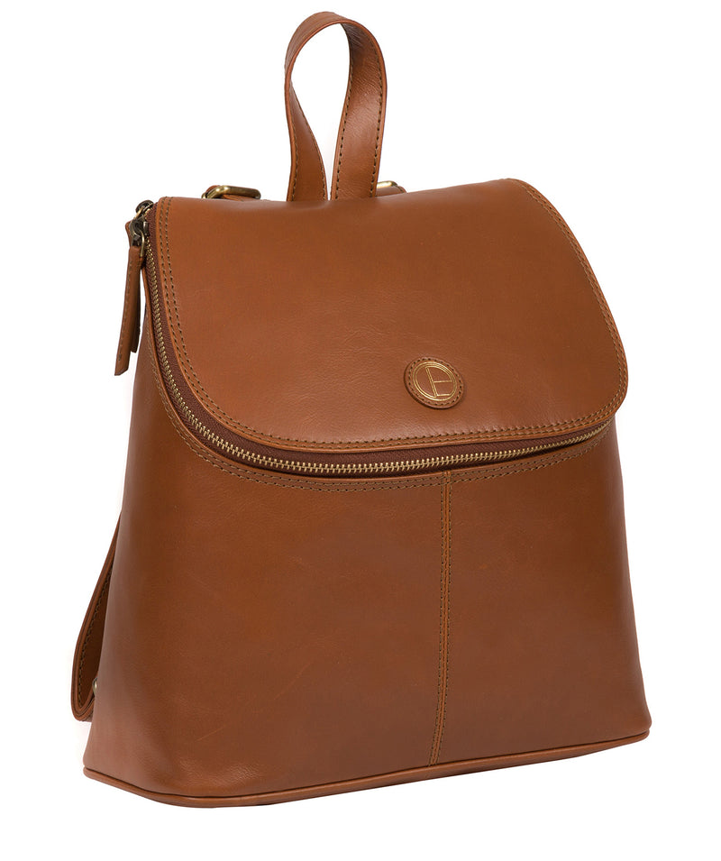 'Marbury' Vintage Dark Tan Leather Backpack image 5