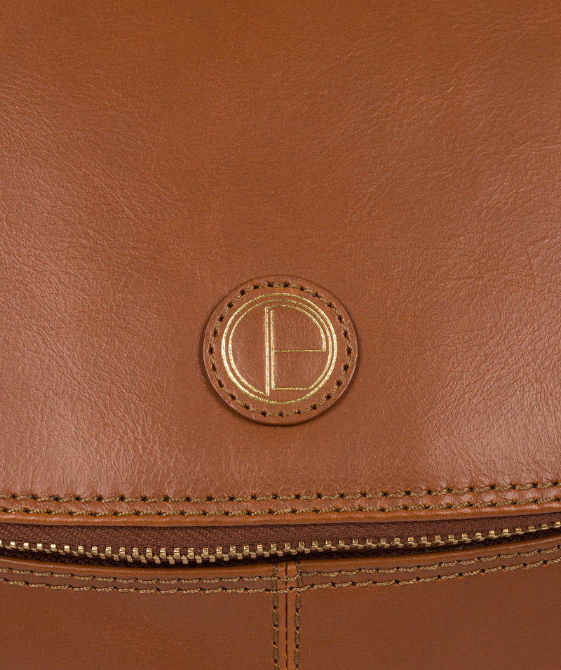 'Marbury' Vintage Dark Tan Leather Backpack image 6