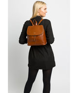 'Marbury' Vintage Dark Tan Leather Backpack image 2