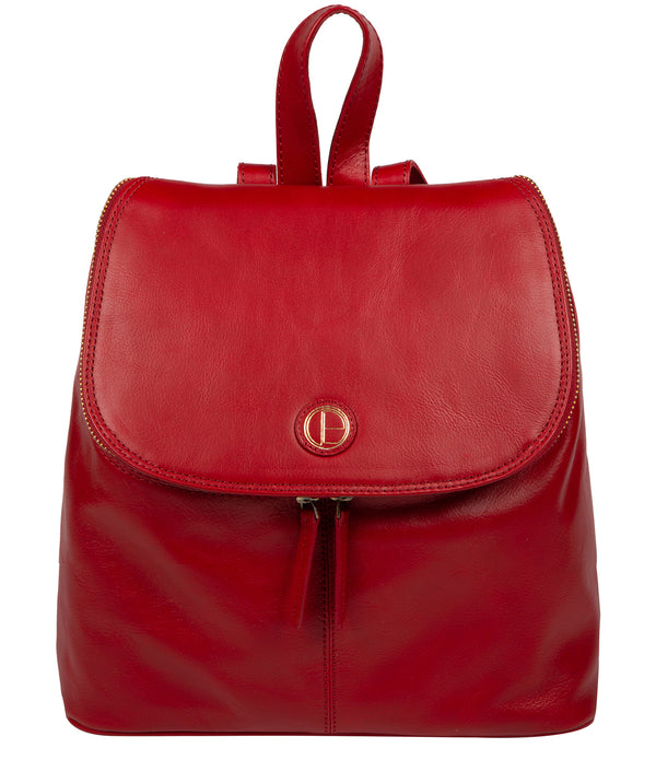 'Marbury' Vintage Red Leather Backpack image 1