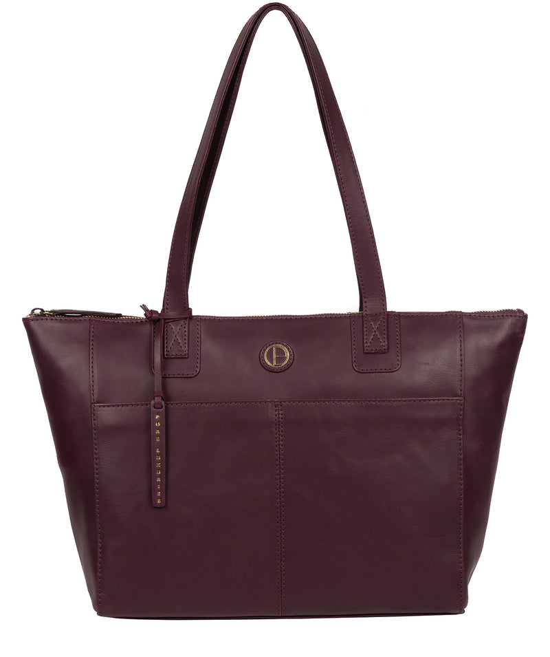 'Gwent' Blackberry Leather Tote Bag image 1