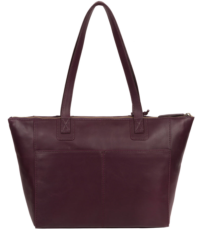 'Gwent' Blackberry Leather Tote Bag image 3