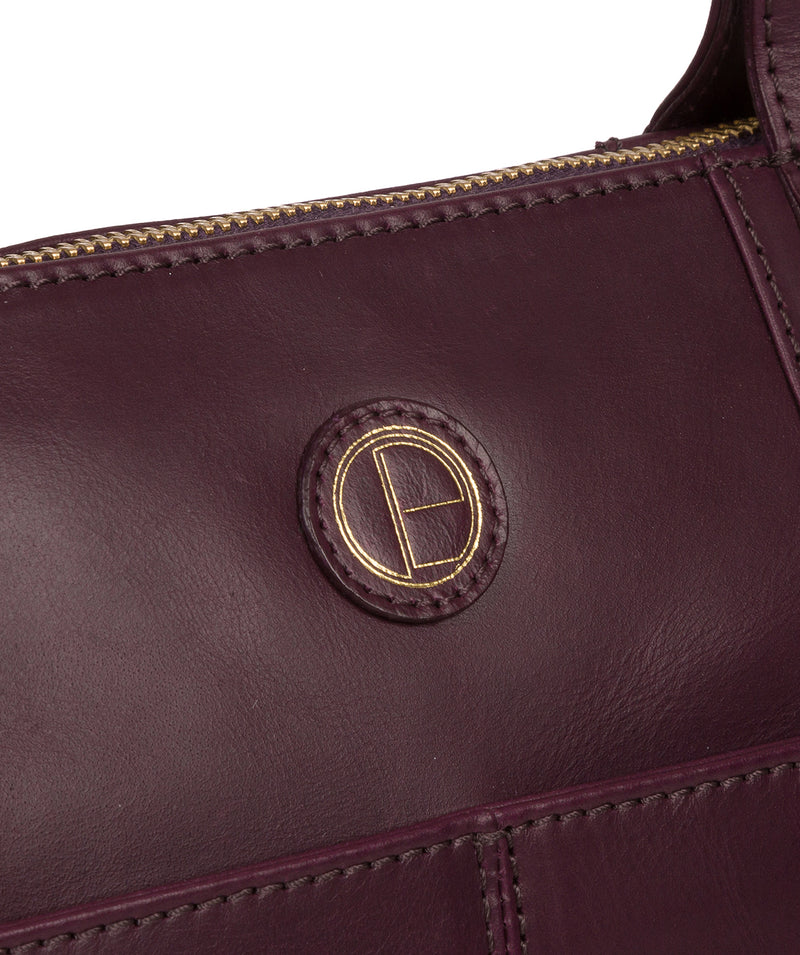 'Gwent' Blackberry Leather Tote Bag image 7