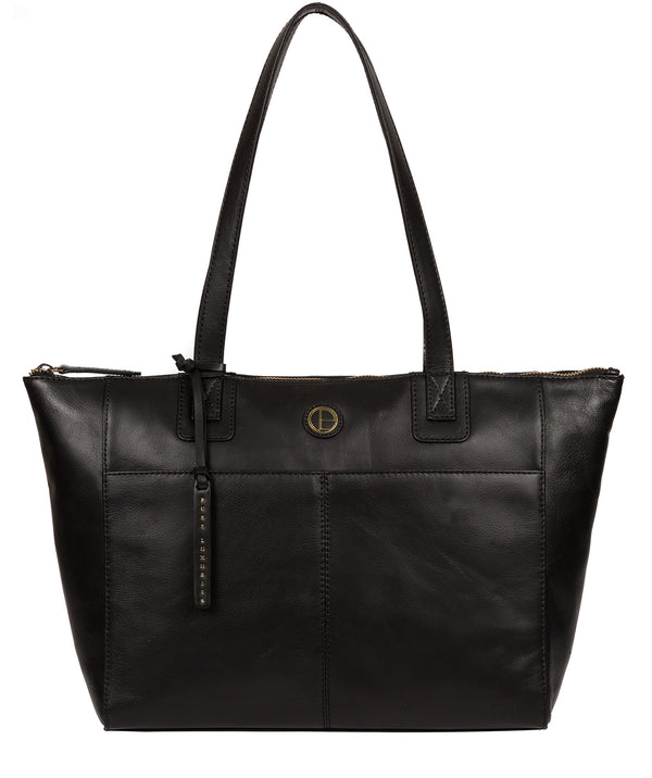 'Gwent' Black Leather Tote Bag Pure Luxuries London