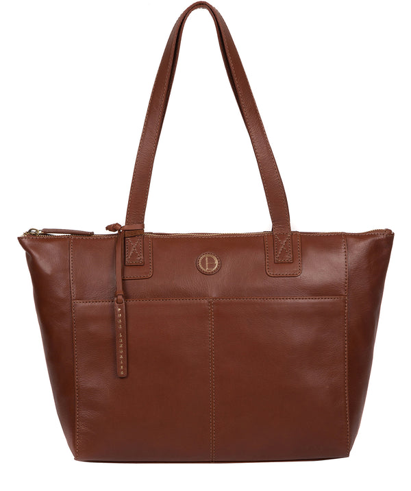 'Gwent' Cognac Leather Tote Bag image 1